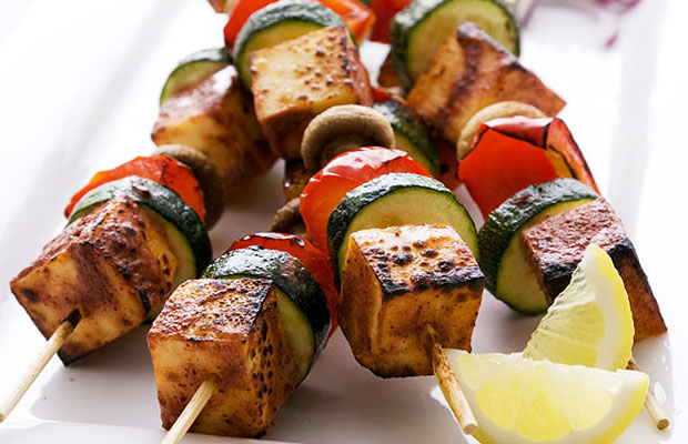 Perfect image of veg paneer shashlik